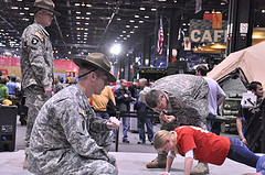 Push up Competition with Drill Sergeants