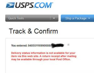 usps tracking information