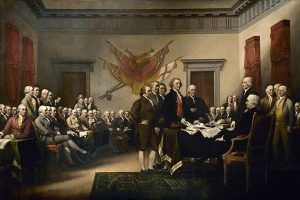 John Trumbull's painting, Declaration of Independence, depicting